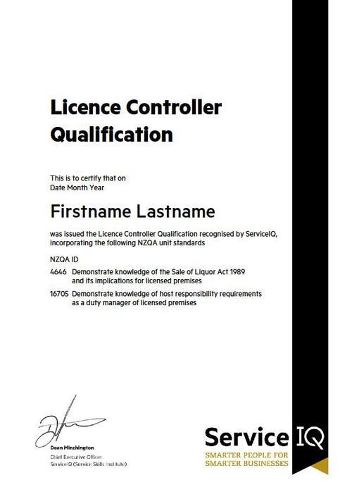 Lcq Course Lcq Training License Controller Qualification